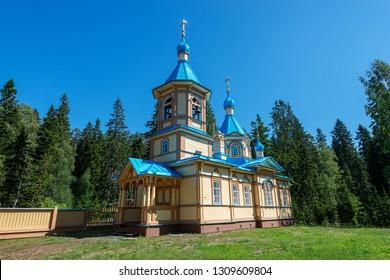 Gethsemane Skete or Yellow Skete. The wonderful island Valaam is located on Lake Lodozhskoye, Karelia. Balaam - a step to heaven