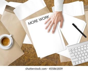 Getting more paperwork task on desk.