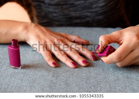 Getting My Nails Done Nail Polishing Stock Photo (Edit Now ...