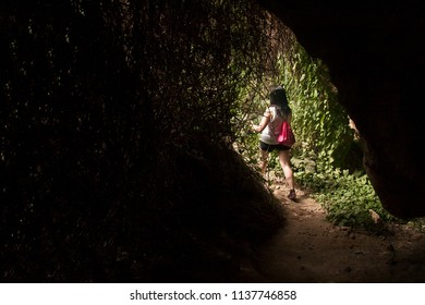 getting out of the cavern, following a natural route