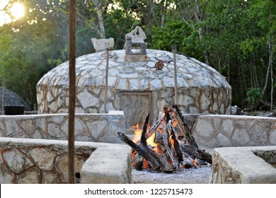 getting ready for temazcal ceremony
