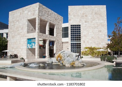 Getty Center, Los Angeles, California - September 2018. A beautiful sunny day at the J. Paul Getty Museum (Getty Center) in Los Angeles, California.