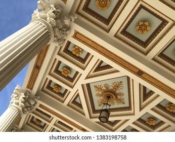 Getty Villa Ceiling Roman Architecture