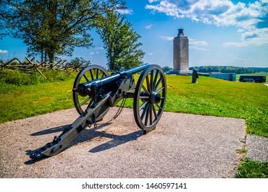 Gettysburg, PA, USA - Sept 19, 2018: The Gettysburg National Military Park