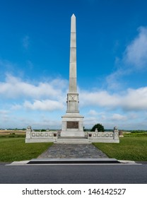 GETTYSBURG, PENNSYLVANIA - JULY 5: Monument to commemorate the services of the Army of the Potomoc at Gettysburg National Military Park on July 5, 2013 in Gettysburg, Pennsylvania