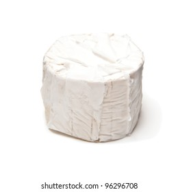 Gevrik goats cheese isolated on a white studio background.