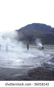 Geysers Del Tatio on the Andes