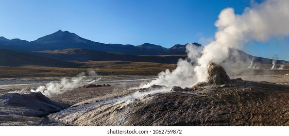 Geysers of Tatio in Atacama, Chile