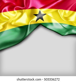 Ghana Country Flag on white background