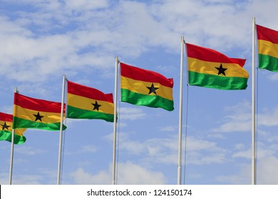 Ghana flags at Independence square