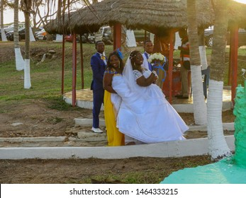 Ghana marriage at a famous place in Accra called Next door. Ghana Accra 2018 April 14.