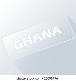 Ghana unique button for any design