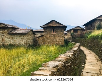 Ghandruk old town village in Annapurna range, Nepal