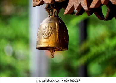 Ghanta is the Sanskrit term for a ritual bell used in Buddhist religious practices.Temples generally have one metal bell hanging at the entrance and devotees ring the bell while entering the temple