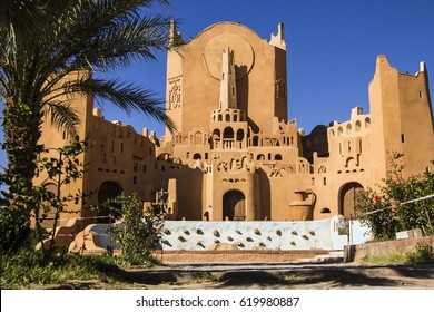 GHARDAIA, ALGERIA, April 3, 2017: Sidi Abaz monument in Ghardaia city, M'Zab architecture, Algeria