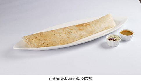 ghee roast dosa isolated on white background