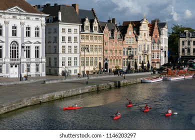 Ghent, Belgium. 08.18.17. Founded in the 10th century, it became the capital of the medieval principality of Flanders. It is now the capital and largest city of the East Flanders province of Belgium
