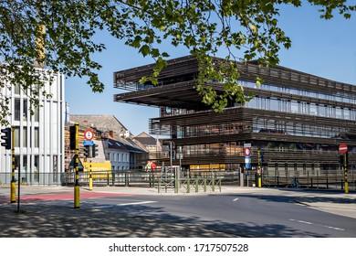 Ghent, Belgium - April 26, 2020: View of the city library De Krook