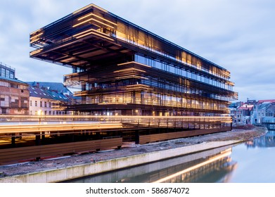 GHENT, BELGIUM – FEBRUARY 24, 2017: De Krook, Ghent's new library, a monumental building where knowledge, creativity and innovation will be shared