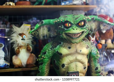 Ghent, Belgium, May 15 2014: gremlins movie figure toy collectible 80s vintage funny