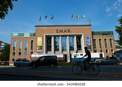 Ghent, Belgium-07 24 2014:The Stedelijk Museum voor Actuele Kunst (commonly abbreviated as S.M.A.K., translated as City Museum for Contemporary Art) is a new museum located in Ghent, Belgium.