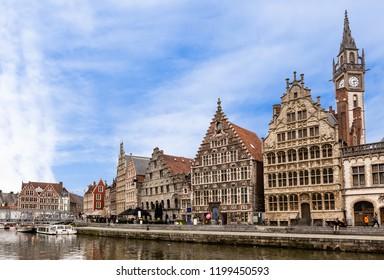 Ghent old town in summer , Belgium
