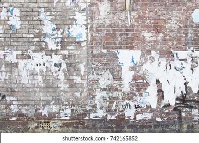 ghetto abandoned brick wall background