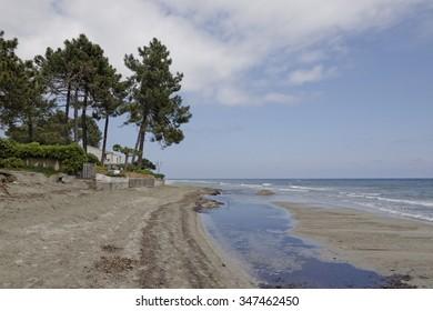 Ghisonaccia village, on the beach, Eastern Corsica, France, Europe