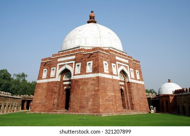 Ghiyas ud-Din Tughlaqâ??s Tomb in New Delhi. Ghiyas ud-Din Tughlaq was the ruler of the Sultanate of Delhi during 1320-25.