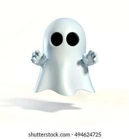Ghost cartoon 3d rendering
