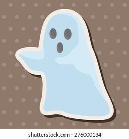 ghost , cartoon sticker icon