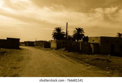 Ghost city Al Jazirah Al Hamra. Ras al-Khaimah. The oldest town in United Arab Emirates. Arabian peninsula