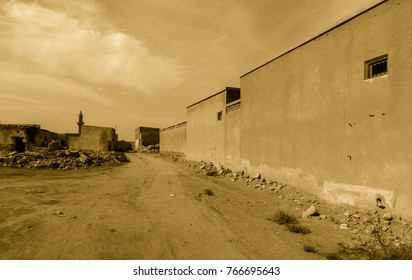 Ghost city Al Jazirah Al Hamra. Ras al-Khaimah. The oldest town in United Arab Emirates. Arabian peninsula