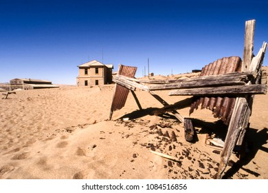 the ghost city of kolmanskop, near luderitz,  namibia, africa