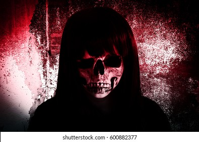 Ghost Face,Scary Background For Book Cover And Movies Poster Project