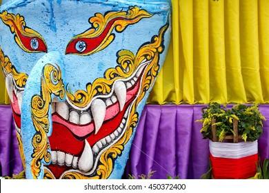 Ghost Festival or Phi Ta Khon. Dhan Sai, Loei Thailand