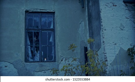 Ghost girl in haunted house, Mysterious girl in white dress