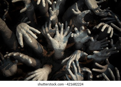 ghost horror hand scary, fantasy apocalypse zombie Bloody hands  background, monster Blood, zombi theme, Halloween creepy theme