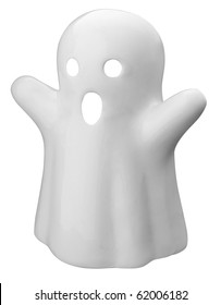 A ghost isolated on white with a clipping path