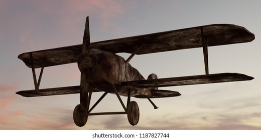 Ghost of the pass - rusty German warplane Albatross from WW1