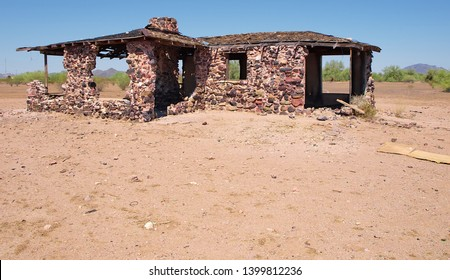 Ghost of Tonopah Past. The ghostly remains of an old homestead in Tonopah Arizona. Back during the pioneer days Tonopah was called Lone Peak.