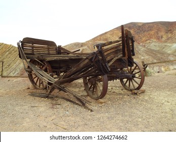 Ghost town abandoned wagon