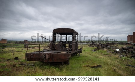 ghost town alykel russia の写真素材 今すぐ編集 599528141