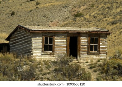 Ghost Town building from Bannack State Park, Montana.