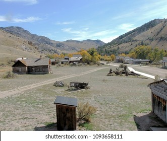Ghost Town buildings: Scenes from Bannack State Park, Montana.