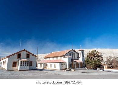 Ghost town of Chuquicamata, Chile near the Chuquicamata copper mine