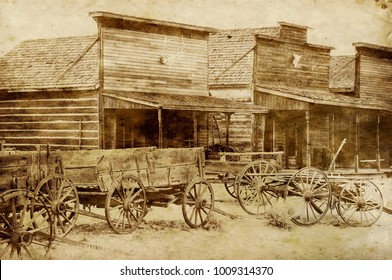 Ghost Town, Cody, Wyoming, United States, grunge version
