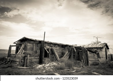 Ghost town with ghost house united states