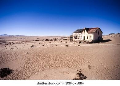 the ghost town of kolmanskop near luderitz,  namibia, africa