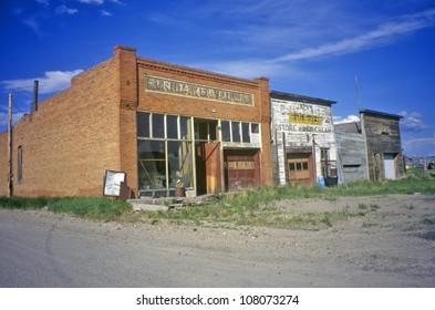 Ghost town, Morida, Montana